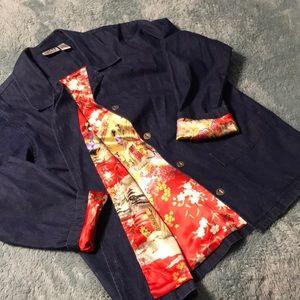 Chico's denim lined jacket